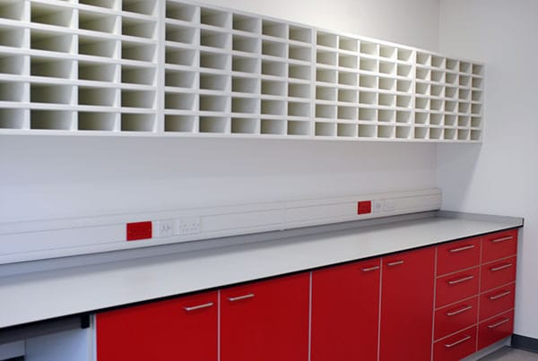 A storage facility in a hospital laboratory from interfocus laboratory furniture