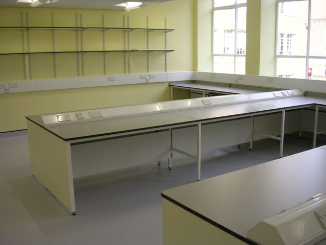Lab desks at Department of Zoology at the University of Cambridge