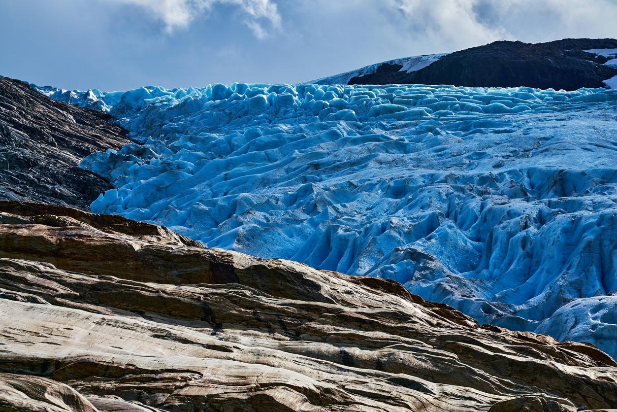 Svartisen Glacier in the year 2018