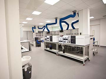 analytical testing laboratory installation