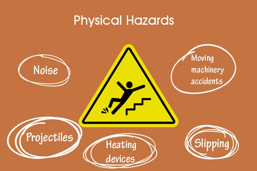 physical hazards in a lab