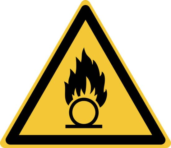 Oxidising Material Safety Symbol