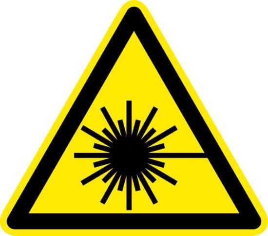 Laser Beam Hazard Safety Symbol