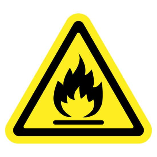 Flammable Material Safety Symbol