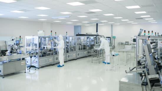 Shot Of Sterile High Precision Manufacturing Laboratory