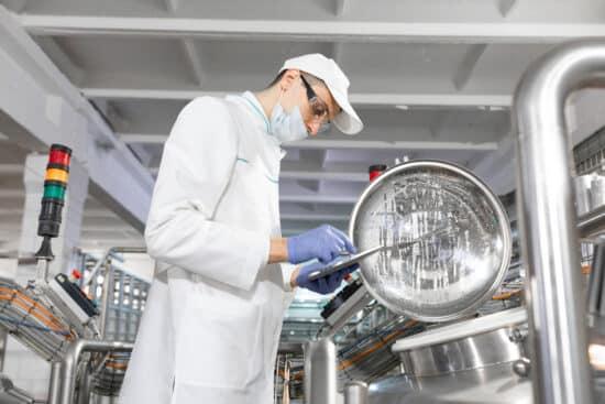 Scientist working in a lab