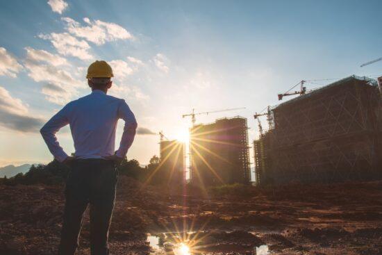 man stood on construction site