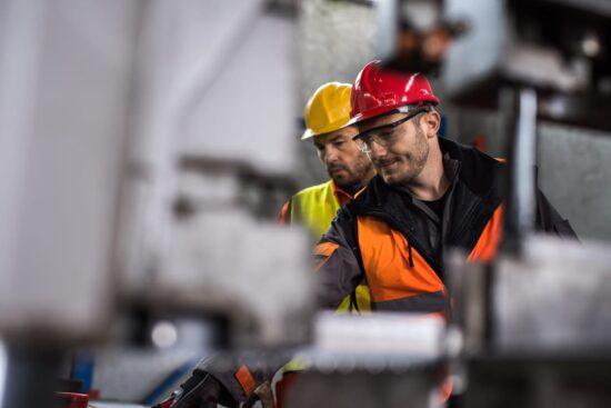 metal workers talking